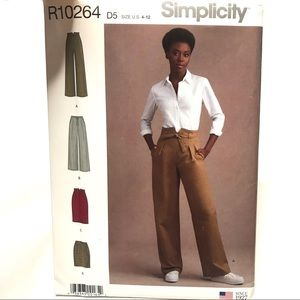 Simplicity Sewing Pattern R10264 Pants Jeans Skirt